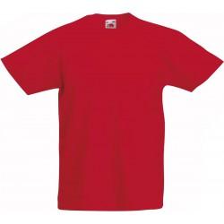 Fruit of the Loom T-shirt Kinderen maat 152 (12-13) 100% Katoen 5 stuks (Rood)