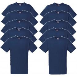 10 Stuks - Fruit of the Loom - V-Hals ValueWeight T-shirt (Donker Navy) maat M