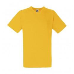 10 Stuks - Fruit of the Loom - V-Hals ValueWeight T-shirt (Geel) maat S