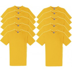 10 Stuks - Fruit of the Loom - V-Hals ValueWeight T-shirt (Geel) maat XL