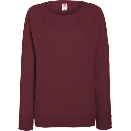 Fruit of the Loom - Dames lichtgewicht Sweatshirt (Bordeauxrood) Maat M