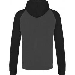 Awdis - Baseball Hoodie (Donkergrijs/Zwart) maat XL