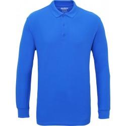 Gildan Heren Lange Mouw Dubbel Piqué Katoenen Poloshirt (Koninklijk) maat S