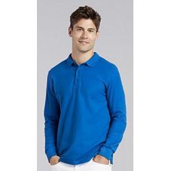 Gildan Heren Lange Mouw Dubbel Piqué Katoenen Poloshirt (Koninklijk) maat 3XL