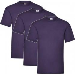 3 Stuks - Fruit of the Loom - Valueweight T-shirt (Paars) Maat 3XL