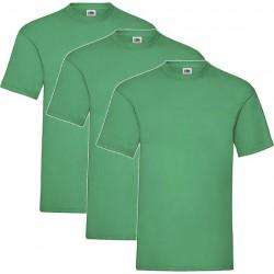 3 Stuks - Fruit of the Loom - Kinder T-shirt (Groen) Maat 152