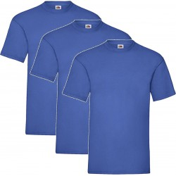 3 Stuks - Fruit of the Loom - Kinder T-shirt (Koningsblauw) Maat 152