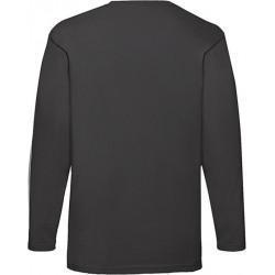 2 Stuks - Fruit of the Loom - ValueWeight Longsleeve T-shirt (Zwart) maat XXL