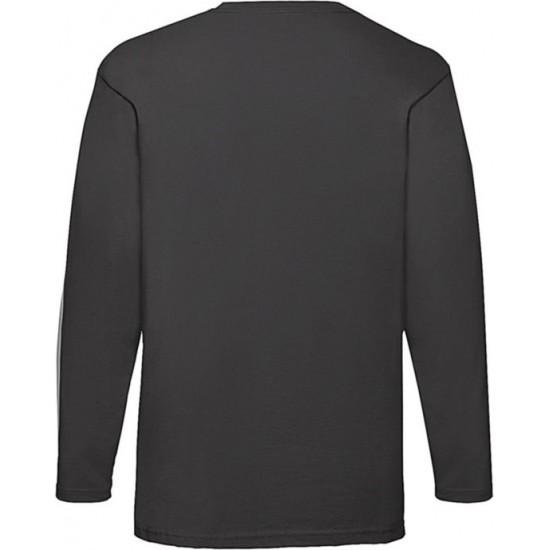 2 Stuks - Fruit of the Loom - ValueWeight Longsleeve T-shirt (Zwart) maat XXXL (3XL)