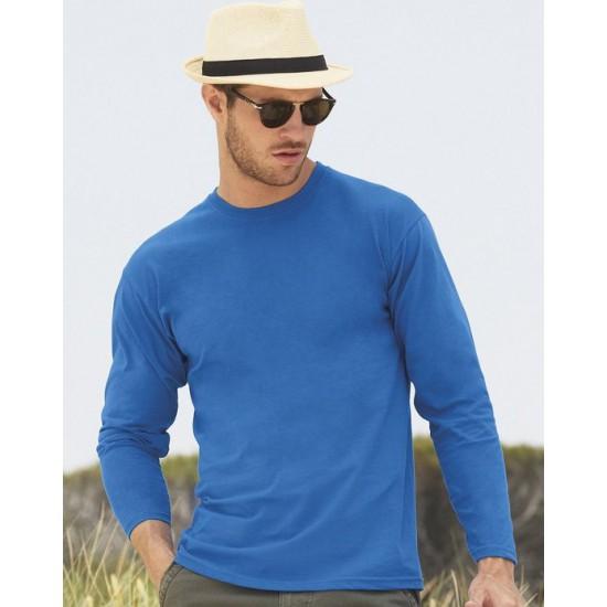 2 Stuks - Fruit of the Loom - ValueWeight Longsleeve T-shirt (Koningsblauw) maat XL
