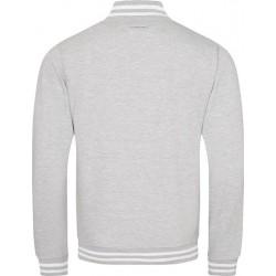 Awdis - Baseball Jacket (Grijs Gemeleerd) maat L
