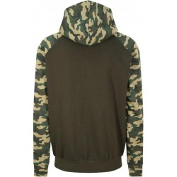 Awdis - Baseball Hoodie (Groen/Camouflage) maat 2XL