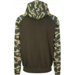 Awdis - Baseball Hoodie (Groen/Camouflage) maat L