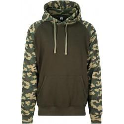 Awdis - Baseball Hoodie (Groen/Camouflage) maat M