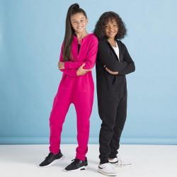 Kids all-in-one onesie kinderen - fuchsia - 13 jaar