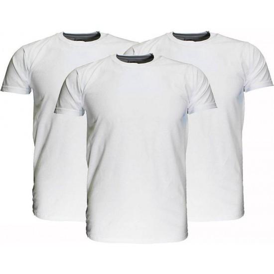 Fruit Of The Loom  Blanco Katoenen T-Shirts 3 stuks pakket Wit maat 128