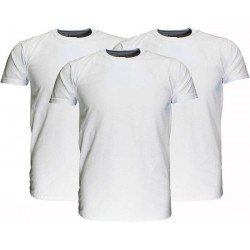 Fruit Of The Loom  Blanco Katoenen T-Shirts 3 stuks pakket Wit maat 140