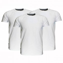 3 Stuks - Fruit of the Loom - Original T-shirt (Grijs Gemeleerd) Maat  XL