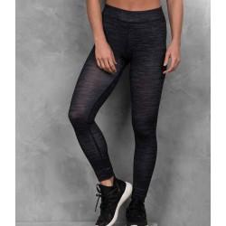 Girlie cool printed sport legging, Kleur Charcoal Static, Maat XS