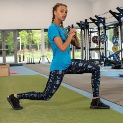 Girlie cool printed sport legging, Kleur Abstract Blue, Maat XS