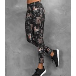 Girlie cool printed sport legging, Kleur City Nights, Maat M