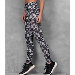 Girlie cool printed sport legging, Kleur Monochrome Madness, Maat XL