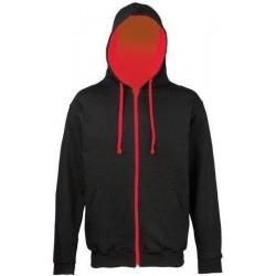 Awdis - Hooded Vest (Zwart/Rood) maat M