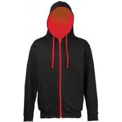 Awdis - Hooded Vest (Zwart/Rood) maat L