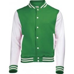 Awdis - Baseball Jacket (Groen/Wit) maat M