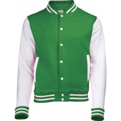 Awdis - Baseball Jacket (Groen/Wit) maat L