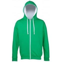 Awdis - Varsity Hooded Sweatshirt / Hoodie / Zoodie (Groen / Wit) maat S
