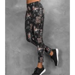 Girlie cool printed sport legging, Kleur City Nights, Maat L