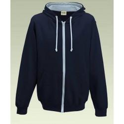 Awdis - Varsity Hooded Sweatshirt / Hoodie / Zoodie (Navy / Lichtblauw) maat M