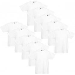 10 Stuks - Fruit of the Loom - Iconic T-shirt (Zwart) maat 140