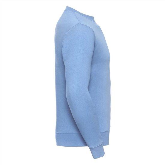 Russell Heren Sweatshirt Lichtblauw Ronde Hals Regular Fit - XS