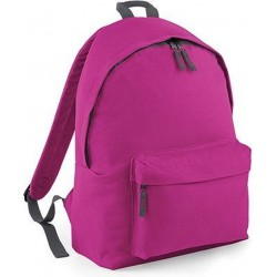 BagBase Backpack Rugzak - 18 l - Fuchsia/Graphit/Roze